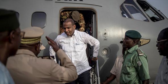 Le Premier ministre malien Boubou Cissé à son arrivée à Sévaré (Centre), le 3 juillet 2019.