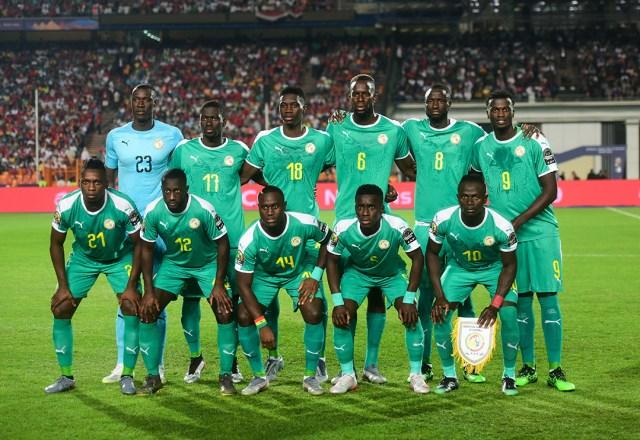 Les Lions de la Teranga lors de la finale de la CAN contre l'Algérie, le 19 juillet 2019, au Caire