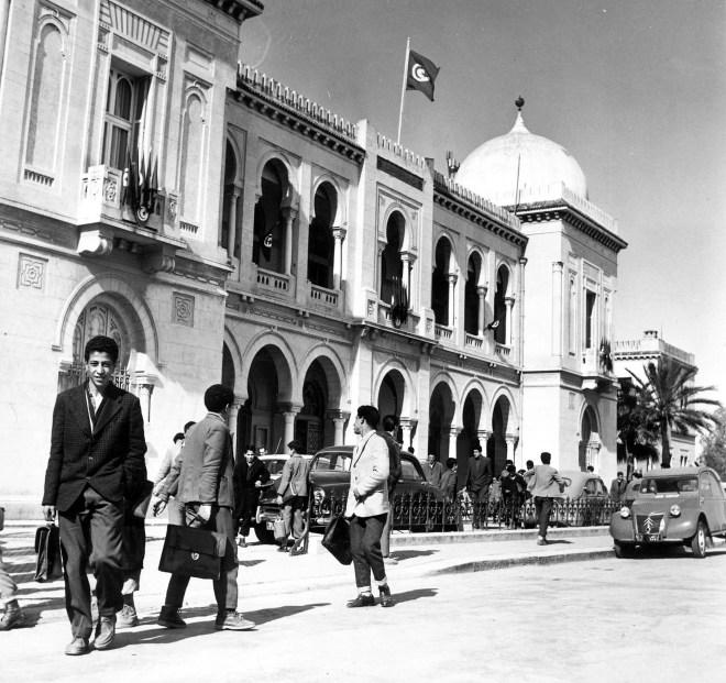 Le collège Sadiki, à Tunis, en 1961.