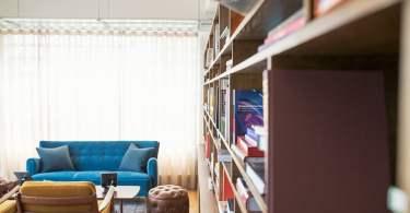 bibliothèque meuble salon