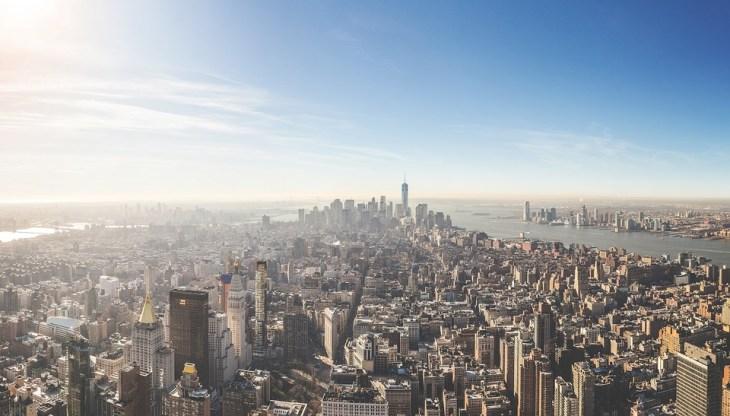 vue aérienne new york