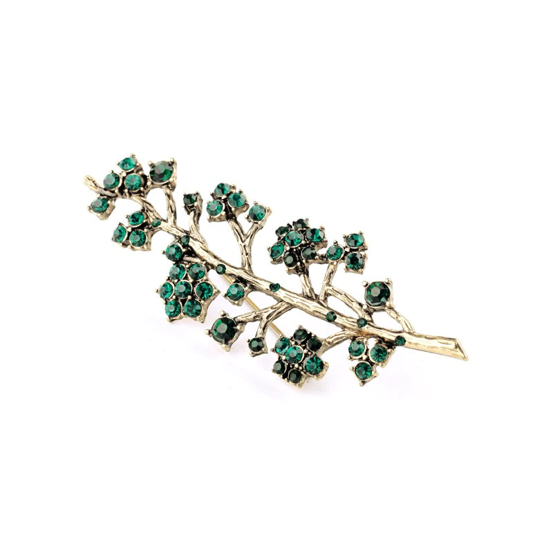 Charming Alloy Tree Shaped Brooch
