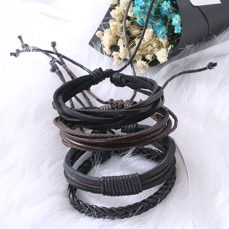 Cute Bohemian Leather Unisex Wrap Bracelet