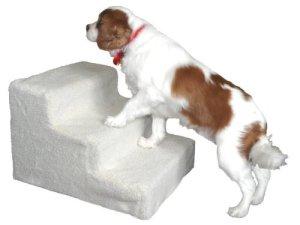 Amzdeal Escalier animal Marches pour chien chat PetStair – 3 marches – 45×35×30cm – Blanc
