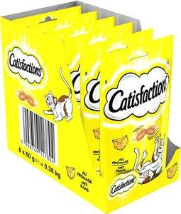 Catisfaction – Au fromage – Friandises pour chats – Sachet de 60g – Lot de 6