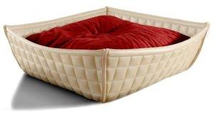 Pet Interiors Bowl Design Chat Panier–panier pour chien en cuir véritable avec coussin orthopédique 75x 75cm