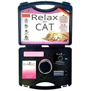 RelaxoPet Relaxocat Système de Relaxation pour Chat Noir/Chrome/Rouge