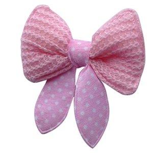 Tfrdertuuigf Pet Supplies pour animal domestique Noeuds papillon Pinces à cheveux Accessoires & # nitrure; Rose et Carbide PCB;