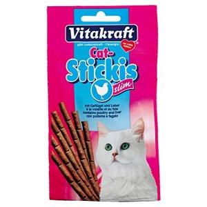 Vitakraft – Friandises Cat Sticki's Slim à la Volaille et Foie pour Chats – x12