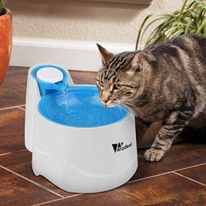 Amzdeal Distributeur de L'eau Automatique pour Chien/Chat, Fontaine de Filtre d'Eau Recyclable pour Animaux Domestique – Bleu