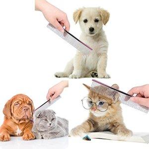Myanburm Animal Domestique Chien Chat Toilettage Peigne Brosse en Acier Inoxydable pour Chiens à Poils Longs Barber Outils