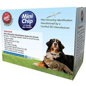 Smarttag ISO Puce–Boîte avec étiquette d'identification pour animaux de compagnie, Mini