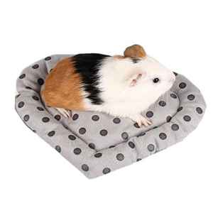 Happy- little -bear Hamster Bed House Pet Hamster Sommeil Mat Doux lit Chaud Petit Animal de Compagnie Coeur Forme Gris