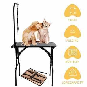 Generic Chien Groo Table Loop Boucle de toilettage Capable de Plier sans Bride Bras Apacity réglable Pliable pour Animal Domestique Capacité