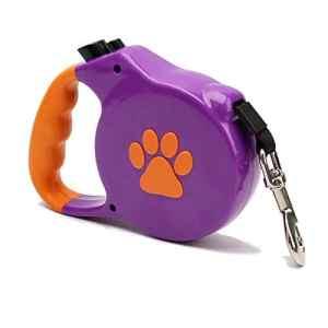 YSY Rétractable Plomb-Quick Lock pour Les Petites et Moyennes Races de Chien et Les Chats-Forte Longue Laisse Extensible pour l'entraînement et de cesser de Tirer,Purple