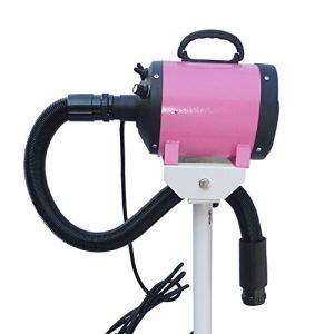 MIAO Animaux Sèche-Poils De Compagnie Souffleur d'eau Tridimensionnel Pulvérisation Électrostatique Réglable Détachable Facile À Déplacer (Couleur : Pink)