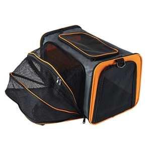 Petcomer Sac Extensible de Transport pour Chiens Chats Animal de Compagnie Transporteur Pliable Confortable Solide pour Voyage (S, Orange)