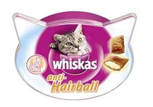 Whiskas Friandises pour le contrôle des boules de poils chez le chat, 1 boîte de 60g de récompenses