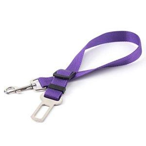 EUYOUZI Dog Seat Belt Lead Restraint Harness by (Purple)