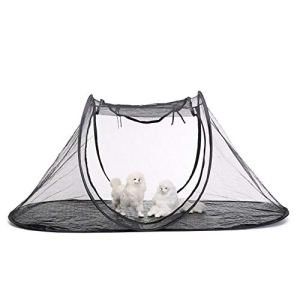 Tente de chat portable, Womdee 74,4 « x 35,4 » x 30,7 « chat en plein air playpen pliable PET Playhouse respirant et durable maille tente pour chat intérieur, lapins, cochons d'Inde, furets