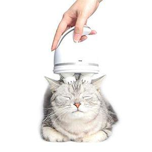 PSATO Appareil de Massage Corporel pour Chiens Chats Outils de Toilettage Automatique sans Fil Masseur de Tête Électrique pour Animaux Domestiques avec Deep Pétrissage Brosse de Massage Rotat 360 °