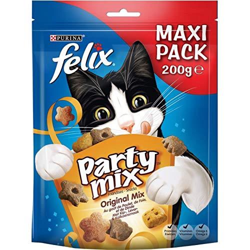 Animalerie Felix – Party Mix Original 200G – Lot De 4