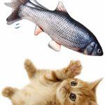 Danse Poisson Chat Jouet, Forme électrique mobile Simulation de poisson en peluche Poupée, Fournitures Bite Chew Interactive for chat / Kitty / chaton Chats Jouets Poissons for Mordre, Mâcher et Kicki