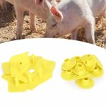 Étiquette d'oreille d'animal de bétail, étiquette d'oreille, 10pcs Marque de bétail Animale Mouton de chèvre pour l'oreille de Porc(Piggy)