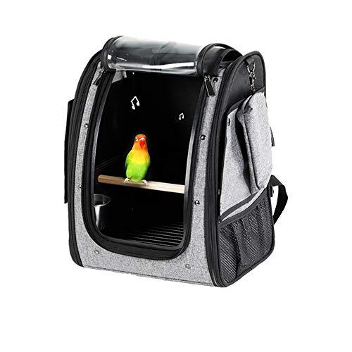 NEHARO Sac de Transport pour Animaux Birdcage Parrot Cage à Oiseaux Sac Oiseau d'animal familier Sac Starling Out Paquet Cage à Oiseaux Grand Porteur d'oiseaux avec Perch (Couleur : Gris, Taille : M)