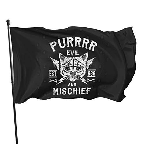 N/F Purrrr Evil and Mischief – Chat satanique – Drapeau occulte de chat