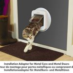 PetSafe – Adaptateur de montage pour Installation de la Chatière avec puce électronique, pour Installation sur Fenêtre, Mur et Porte métallique – Blanc