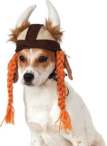 Rubies Rubis Fantaisie Company Chapeau de Viking avec Tresses pour Animaux domestiques
