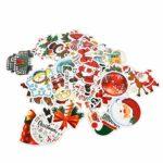 TOYANDONA 50 Feuilles Autocollants de Noël Autocollants Cadeaux pour Bouteilles d'eau Autocollants en Vinyle Imperméables pour Adolescents Garçons Filles Parfaites Bagages pour Ordinateur