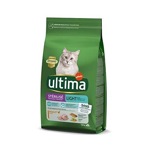 animaux Ultima – Croquettes Chat Stérilisé Light 1.5Kg – Lot De 3 – Offre Special