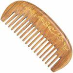 CoMb Peigne à Cheveux pour Femmes Mme Peigne de Bois de Santal en Bois Peigne Peigne Peigne Acajou Peigne de Bois de Santal sculpté à la Main Peigne à Dents Larges Peigne