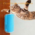DRBZ Appareil de massage auto-toiletteur pour chat – Peigne de massage pour poils courts et longs – Gris
