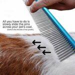 Peignes Pet peigne – 2 pièces couleur de peinture de chien professionnel Anti-rouille peignage peigne en acier inoxydable Cat fuselé Pin Pet Supplies Toilettage Outils de coiffure Soins des cheveux