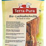 TERRA-PURA – Nourriture pour animaux – Saumon bio séchée – Snack pour chiens et chats – Idéal pour les barers – 200 g