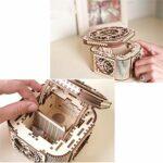 Zjcpow en Trois Dimensions Puzzle en 3D Craft en Bois Puzzle Box Kits de Montage for Les Adultes et Les Filles -Box for Adultes et Enfants (Couleur: Naturel, Taille: 142x142x100 (mm)) xuwuhz