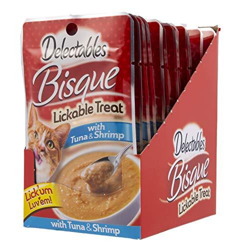 Hartz Delectables Bisque Lickable Treat, Lot de 12, 1.4 oz, Beige/marron