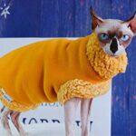 HCYD Vêtements pour Chats Anti-Off Polaire d'hiver Vêtements pour Chats Sphinx L Jaune