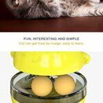 THUMBGEEK Spaß Tumbler Haustiere Slow Food Unterhaltung Spielzeug Die Aufmerksamkeit Der Katze Einstellbar Snack Mund Spielzeug Für Pet (Vert)