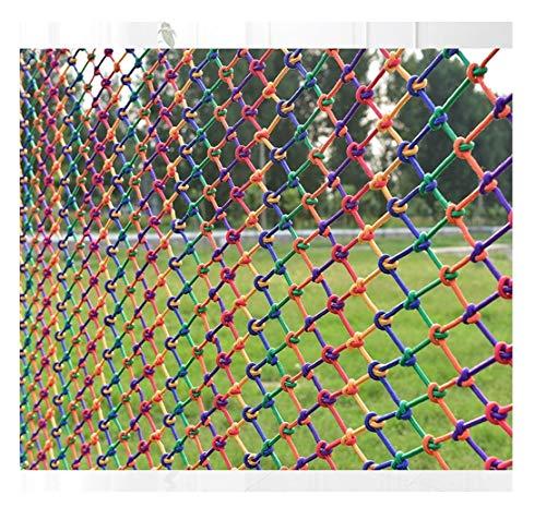 Filet De Sécurité D'enfant Filet de Sécurité Enfants (4x6m) Filet de Corde en Nylon Couleur Filets Anti-chute Escaliers Protection Balcon Filets Décoratifs Filet de Clôture Filet de Chargement Écran S