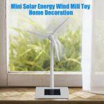 Jouet de Moulin à Vent, Mini Jouet d'énergie Solaire Ornement de Bureau de Jardin Jouet d'énergie éolienne à la Maison pour l'éducation d'article décoratif