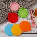 metagio Lot de 6 couvercles de nourriture en silicone pour chien et chat – Taille unique – Compatible avec presque toutes les boîtes de nourriture
