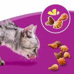 Whiskas Trio Crunchy Treats – Friandises à la volaille pour chat, 6 boîtes de 55g de récompenses