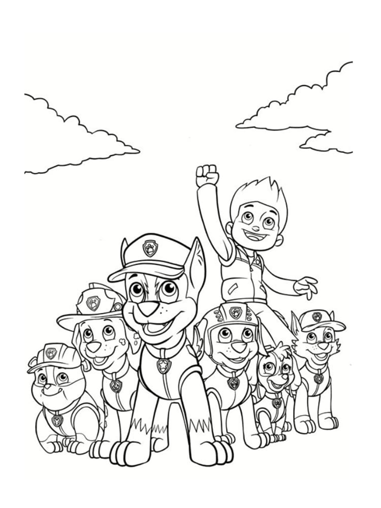 Disneyland Characters Main Outline Drawing