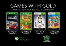 jeux avril 2020 Games With Gold xbox