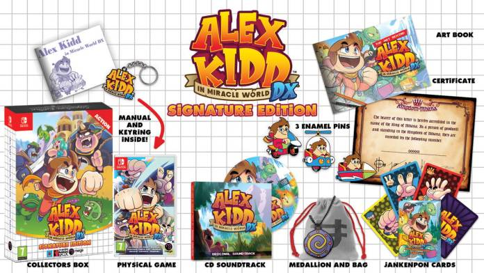 Alex Kidd in Miracle World DX edition physique Signature