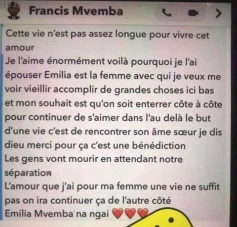 Francis Mvemba Réagit Aux Nouvelles Critiques Sur Son Mariage Avec Coco Emilia